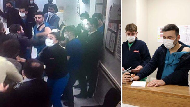 Gaziantep'te sağlık emekçilerine şiddet!