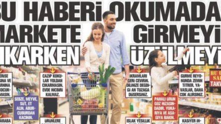 Yandaş Takvim gazetesinden yoksul yurttaşa alışveriş 'tavsiyesi'!