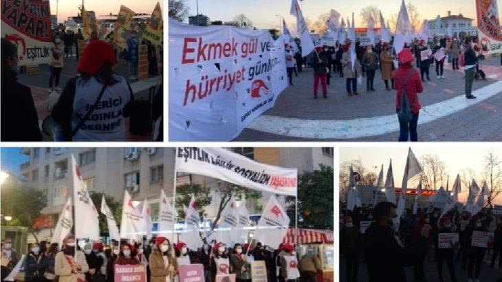 İstanbul ve İzmir'de 8 Mart: Kadınlar gericiliğe ve sömürüye karşı buluştu