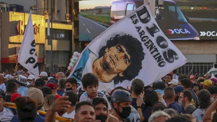 Arjantin'de Maradona eylemi