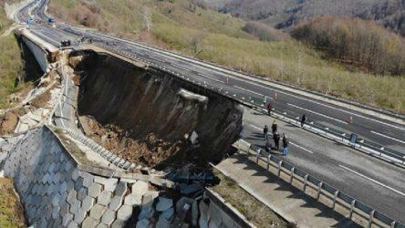 Düzce - Zonguldak karayolu çöktü!