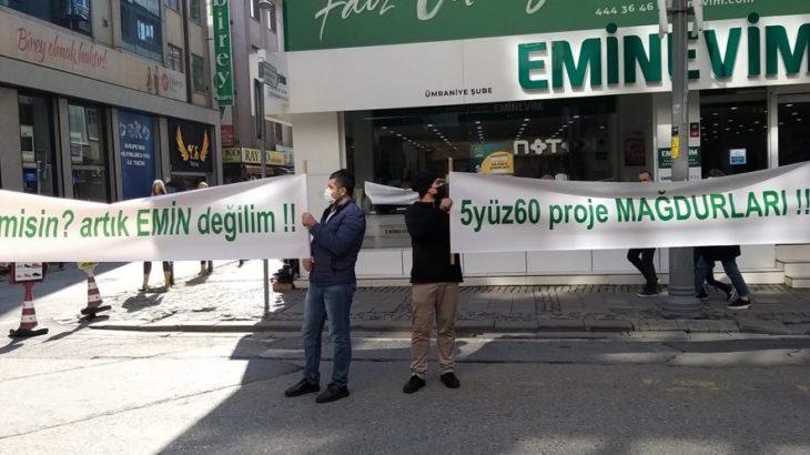 Eminevim'den konut ya da arsa alarak mağdur olan yurttaşlar eylem yaptı