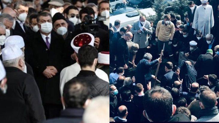 O görüntülerin ardından 'özür' dilemişti: Fahrettin Koca bu kez 'gizlice' cenazeye katılmış