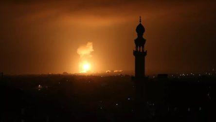 İsrail'den abluka altındaki Gazze'ye hava saldırısı