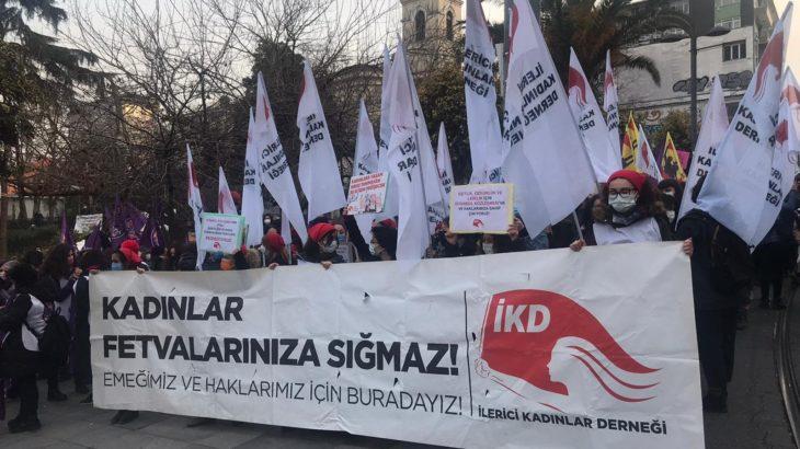 Kadınlar Kadıköy'den haykırıyor: Kararı geri çek, sözleşmeyi uygula!