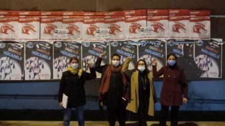 İKD'lilerin 8 Mart çalışmasına engelleme girişimi!