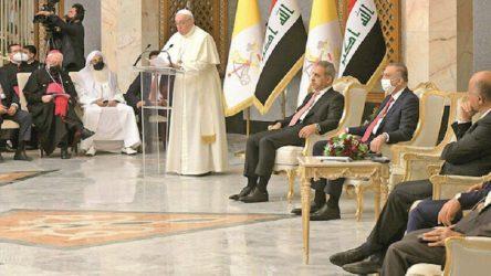 Papa Irak'ta: Kardeşliğimizi güçlendirmeliyiz