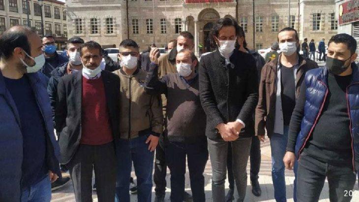 Konya'da esnaf Valilik önünde eylem yaptı