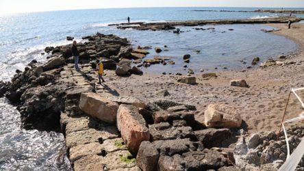 Mersin'de deniz çekildi, Soli Pompeipolis Antik Kenti ortaya çıktı