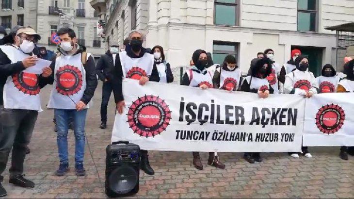 Migros işçileri TÜSİAD önünde eylem yaptı: Taleplerimiz karşılanıncaya kadar direneceğiz