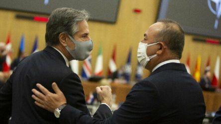 Çavuşoğlu ile ABD Dışişleri Bakanı, Brüksel'de bir araya geldi