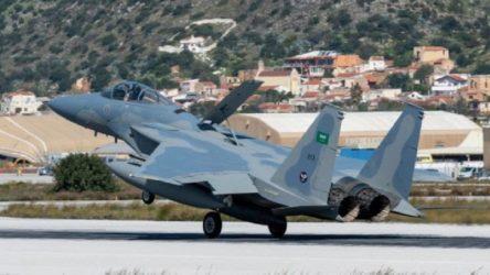 Suudi Arabistan'a ait savaş uçakları Yunanistan'la ortak tatbikat için Girit'te