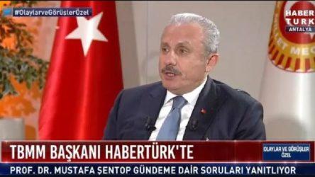 Meclis Başkanı Şentop: Erdoğan, Montrö Boğazlar Sözleşmesinden de çekilebilir