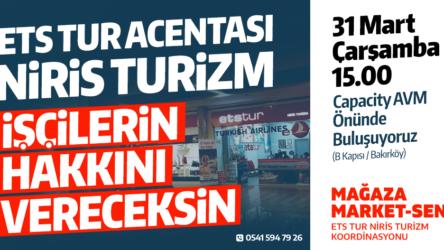 Niris Turizm işçileri Kod – 29'a ve maaş gaspına karşı direniyor