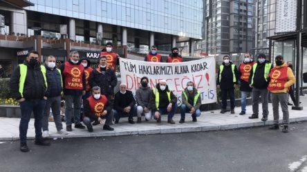 Skyland AVM önünde direnen işçilere gözaltı