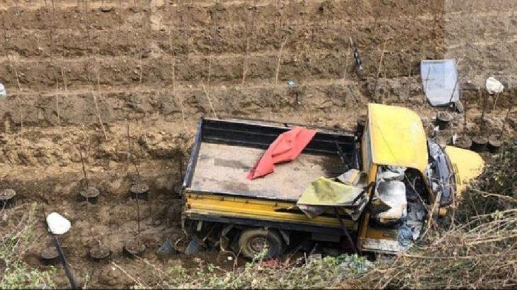 İşçileri taşıyan kamyonet devrildi: 11 yaralı