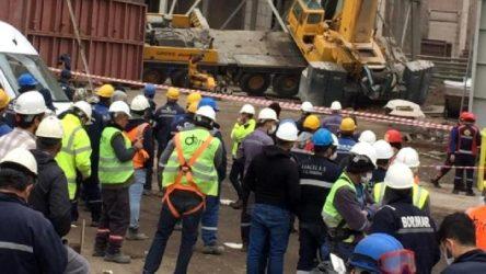 Termik Santral'de vinç devrildi: İki işçi yaralı