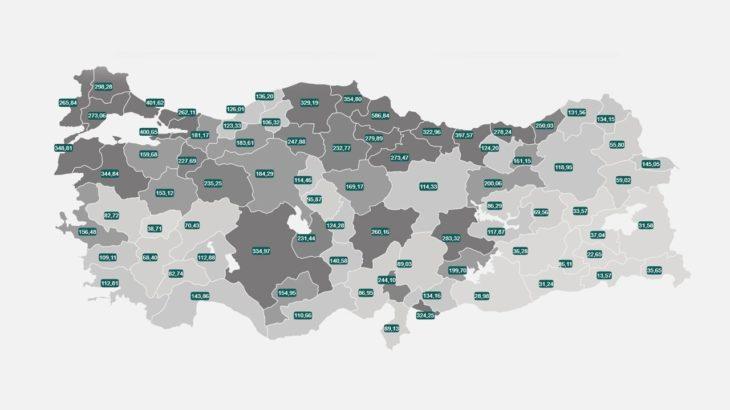 Yeni vaka haritası: En çok ve en az vaka görülen iller belli oldu