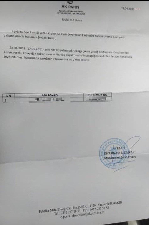 AKP İl Başkanlıkları muafiyet belgesi dağıtıyor iddiası