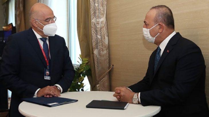 Çavuşoğlu ile Dendias ortak basın toplantısı düzenledi