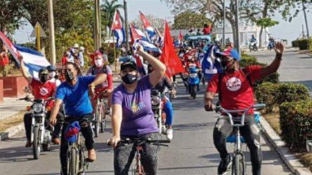 ABD'de 50 şehirde Küba'ya uygulanan ambargo protesto edildi