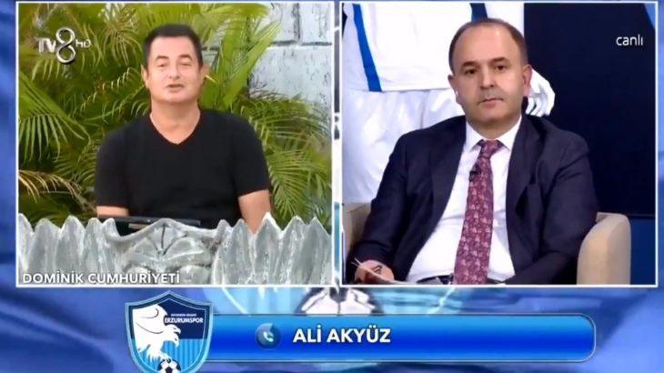 VİDEO | Acun'a canlı yayın şoku: Aç karnımı doyuramadım, Erzurumspor'a yardım mı edeceğim?
