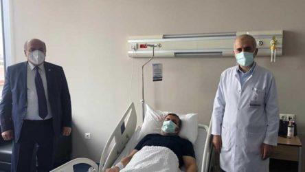 AKP'li vekilden hastanede koronavirüs tedavisi gören müftüye 'geçmiş olsun' ziyareti!