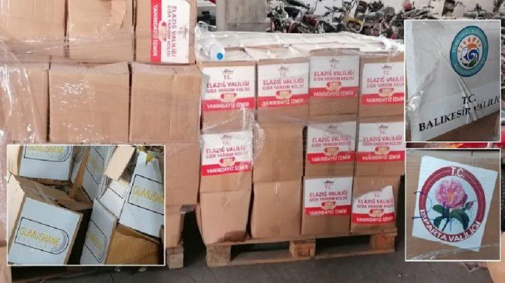 AKP'li belediye İzmir'deki deprem için yardımları stoklayıp 'Ramazan kolisi' olarak dağıttı!