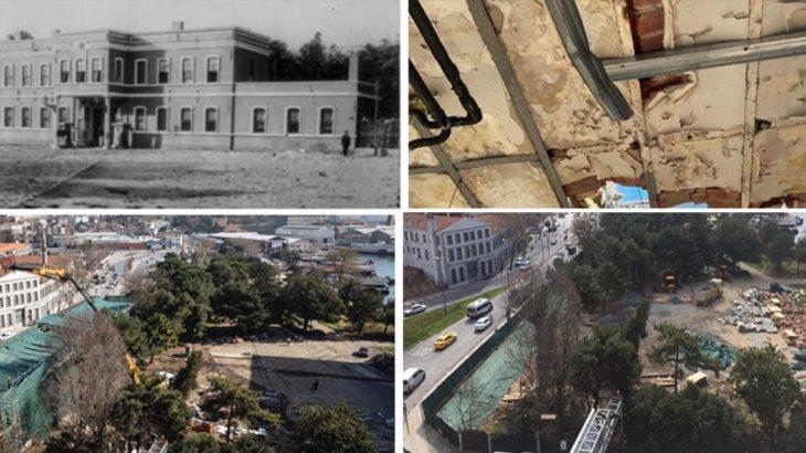 AKP'nin kararıyla Kasımpaşa'daki tarihi bina yıkıldı
