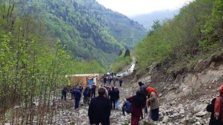 Köylülerden Cengiz'in taş ocağına izin çıkmadı!
