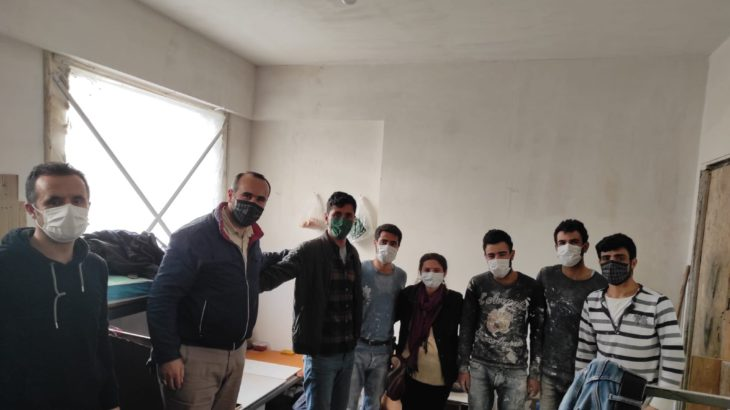 TKH ve İYİ-SEN heyetlerinden inşaat işçilerine 1 Mayıs ziyareti