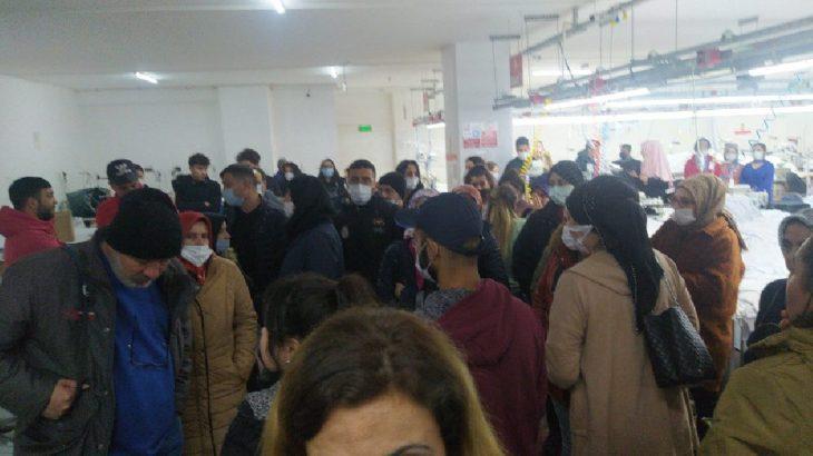 Özsen Tekstil işçileri ödenmeyen ücretleri için fabrikayı terk etmeme eylemine başladı