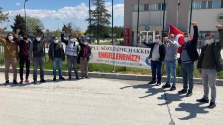 TKH ve Sınıf Tavrı heyetlerinden direnişteki Bel Karper işçilerine 1 Mayıs ziyareti