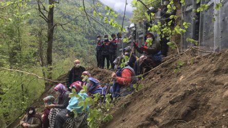 İkizdere'de köylülerin Cengiz'e karşı direnişi sürüyor: Jandarma halkın üzerine taş yuvarladı!