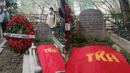 Komünistler, Hüseyin Duman'ı mezarı başında andı