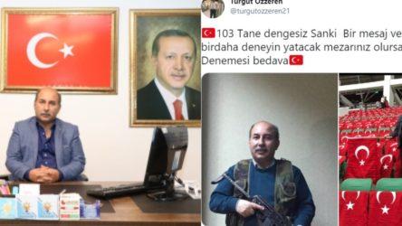 AKP'den gövde gösterileri: Bu kez il yöneticisinden 104 emekli amirale 'kalaşnikof'lu tehdit!