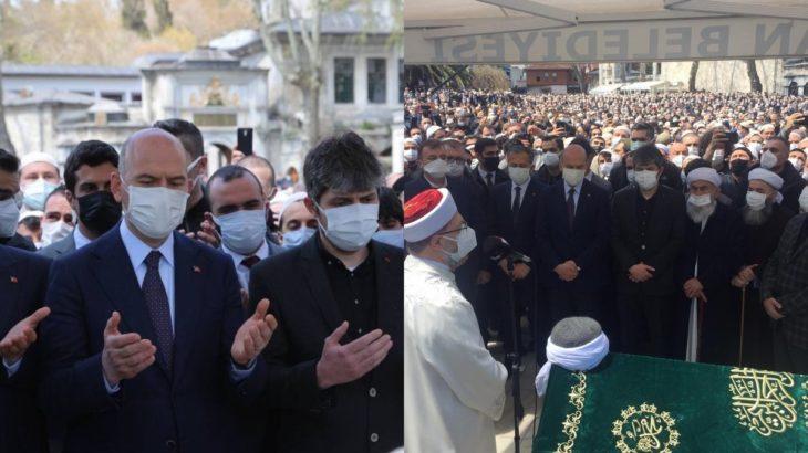 Said Nursi'nin 'talebe'sinin cenazesinde tedbir sıfır! Yasak genelgesi gönderen Soylu da katıldı...