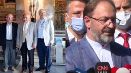 Diyanet'in 'saç ektirme ve boyatma caiz değildir' fetvasının ardından Ali Erbaş'ın saçını boyattığı ortaya çıktı...