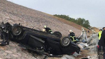Konsolosluk aracı Kuzey Marmara Otoyolunda kaza yaptı: 3 ölü