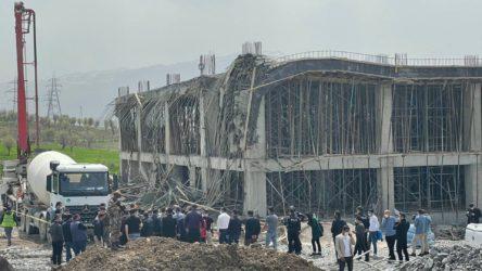 AKP'li belediyenin yaptığı otobüs terminalinde çökme: 5 işçi yaralı