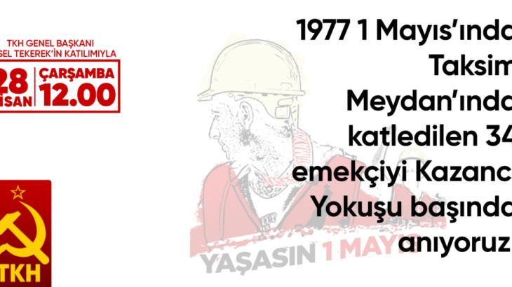 TKH: Karanfillerimizle Taksim Kazancı Yokuşu başındayız