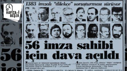 15 Mayıs 1984: Aydınlar Dilekçesi, Kenan Evren'e verildi