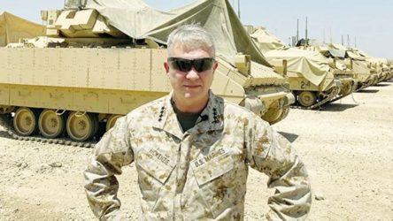 ABD'li generalden YPG'ye destek pozu