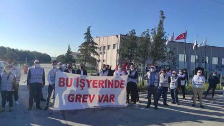 Bel Karper işçileri üretimi durdurdu greve çıktı: Kazanana kadar mücadele edeceğiz