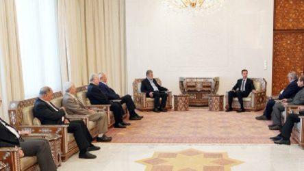 Filistinli gruplar Suriye'de Esad ile bir araya geldi