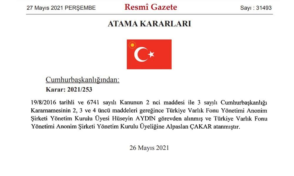 Erdoğan'dan yeni kararname: 4 yeni HSK üyesi, 1 bin 70 hakim savcı ve Varlık Fonu yöneticisi