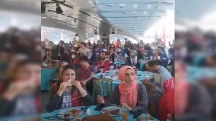 Bakanlık, Boğaz'da salgın önlemlerinin hiçe sayıldığı fasılla fetih kutladı!