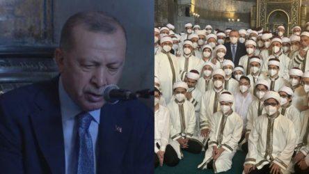 Ayasofya'da Erdoğan'ın katılımıyla düzenlenen programda Atatürk'e lanet okundu!