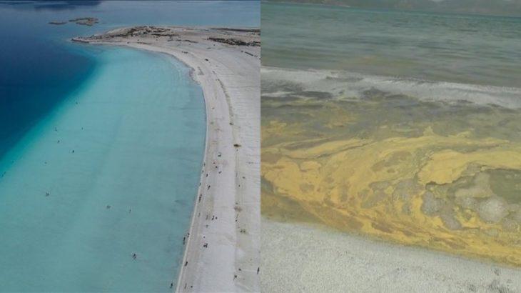 Millet Bahçesi yapılan Salda Gölü'nde kumun rengi değişti!