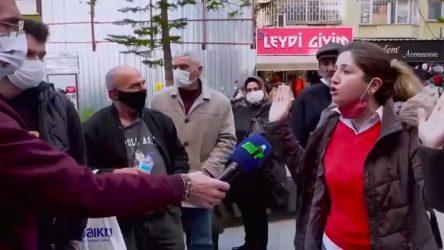 Sokak röportajında iktidarı eleştiren Sümeyye Avcı gözaltına alındı